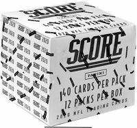 2020 Score Football Fat Pack Box Factory Sealed 12 PACKS CELLO