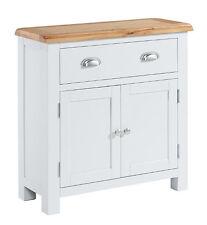 Stone Grey Painted Chunky Oak Small Sideboard Cupboard Cabinet   Wardley Range