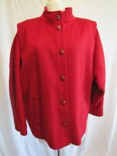 Vintage Braefair Coat Jacket Womens Wool Red Size 13/14