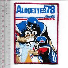Beer Football Montreal Alouettes & O'Keefe Beer Canadian Football League 1978