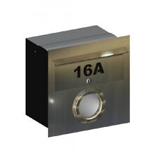 16A Stainless Steel Letterbox - Brickin Mailbox or Fence Mount Letter Box