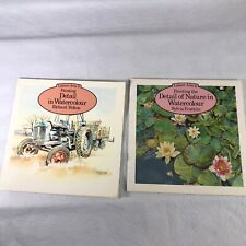 Lot of 2 Art Watercolor Painting Books Leisure Arts Detail of Nature