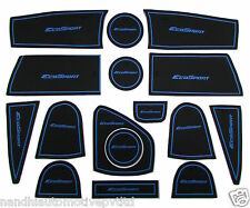 Ford Ecosports Door Cup Non Slip Soft Rubber Mats- (Blue) Set of 16 Pieces