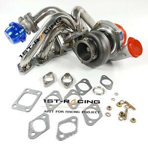 Turbo+ Top Mount T3 +38mm Wastegate For Nissan Skyline R32 R33 RB20DET/RB25DET