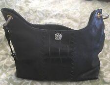 Brighton Black Leather Shoulder Bag Purse Handbag-Very Nice