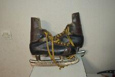 PATIN A GLACE HOCKEY  CUIR ADIDAS BUFFALO T 6 LEATHER  VINTAGE 1960 NHL OFFICIEL