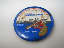 Vintage Pin Button: 1990 Evansville Freedom Festival Budweiser Boat Drag Racing