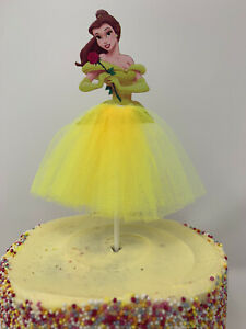 Belle Princess Cake Topper Beauty and the Beast Birthday Party decoration baking