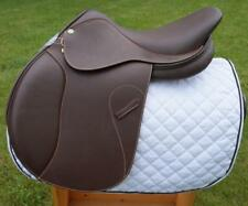 New English Jumping Close Contact Leather Horse Saddle (Sizes 14,15,16,17,18,19)