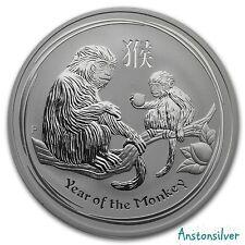 2016 1 oz Silver Australian Lunar Year of the Monkey in Original Mint Cap