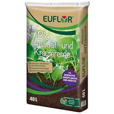 EUFLOR BIO Aussaat- und Kräutererde mit organischem Dünger, 40 Liter