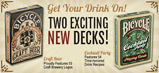 2 Decks Bicycle Craft Beer & Cocktail Party Standard Poker Playing Cards New