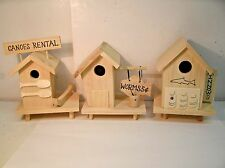 DIY Unfinished Wood Mini Sea Pier Houses for Nautical Decor Christmas