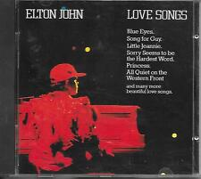 ELTON JOHN - Love songs CD Album 16TR Holland 1986  West Germany Print