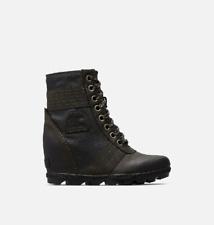 NIB SOREL Women's Lexie Wedge Boot in Black/Black