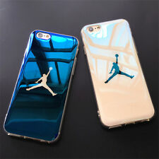 For iPhone X 7 8 6S Plus Cool Soft TPU Cover Air Michael Jordan Phone Case Laser