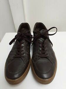 Tod's UK 10.5 Brown Sneaker Style Leather Shoe