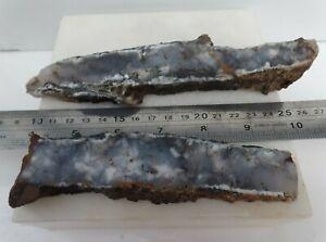 Opalite merlinite slabs Dendritic Chalcedony mineral lapidary rough - MI022