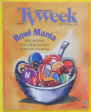 COLLEGE FOOTBALL BOWL GAMES MANIA Chicago Tribune TV Week guide Dec 29 1996