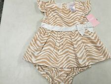 Nwt Gymboree Savannah Party Zoo Bow Dress W Diaper Cover 18 24 Ms