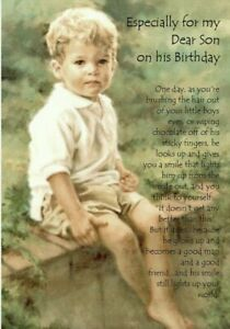 Especially For My Dear Son On His Birthday - A5 Card Son Birthday Special Love