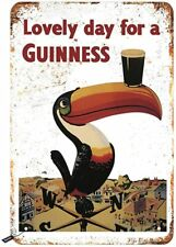 Lovely Day for a Guinness Beer Pint Bar Pub Drinking Man Cave Rustic Metal Sign