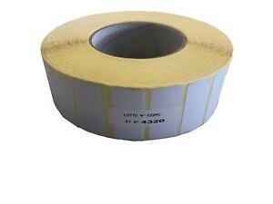 Etichette bianche per Trasferimento Termico Ribbon su Rotolo Rullo dim. 43x20mm