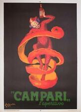 LEONETTO CAPPIELLO CAMPARI L'APERITIVO 1950 ITALIAN POSTER FOR BARS 39X55 inches