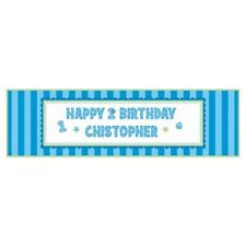 1st BIRTHDAY Sweet Lil Cupcake Boy GIANT BANNER ~ First Party Supplies Customize