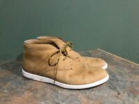 LACOSTE MEN'S BEIGE LACE UP CHUKKA ANKLE LACCORD BOOTS SIZE 10.5