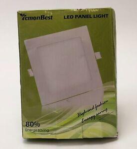 Lemonbest Cool White Round LED Panel Light AC/85-265v + LED Driver Output 9 Watt