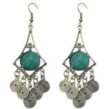 Bohemia Retro Earring Eardrop Turquoise Tassel Dangling Girl Fashion Jewelry New
