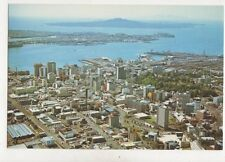 Aerial View Auckland City Rangitoto Island New Zealand Postcard 037b