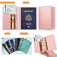 RFID Blocking Passport Holder ID Card Travel Wallet Organizer Cover Case