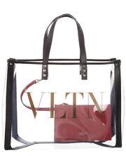 Valentino Small Vltn Leather & Pvc Tote Women's