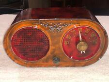New ListingOld Antique Bakelite Coronado Vintage Tube Radio Catalin Colors Restored Working