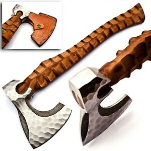 Handmade Tactical Bearded Viking Tomahawk Axe/Hatchet Carbon Steel 17 inch Sharp