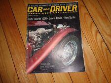 July 1961 Car and Driver Magazine Ferari Abarth 1000 Lancia Flavia Sprite