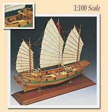 "Amati Chinese Pirate Junk 16"" Wooden Ship Model Kit Historic Series"