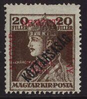1918-19 HUNGARY 20F NEWSPAPER STAMP OverPrinted 'KOZTARSASAG'