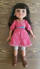 """Hearts for Hearts Doll MOSI Native American Girl Doll 14"""" retired Original"""