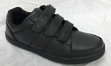 Boys Clarks Riptape Fastening School Shoes Holbay Go 10.5 UK Black Leather F