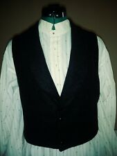 Civil War Era SASS Western Mens Woolrich Wool Black  Vest   Size 32