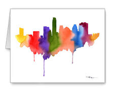 Austin Skyline Note Cards With Envelopes