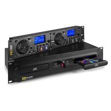 "DJ-Controller USB MP3 Spieler dualer CD Player 19"" Rack-fähig 2 Displays schwarz"