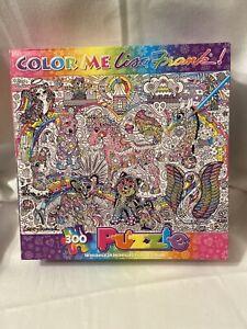 """Lisa Frank 300 piece Color Me Jigsaw Puzzle 18x24"""""""