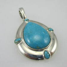 Sterling Silver Carolyn Pollack Turquoise Enhancer Pendant
