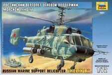 ZVEZDA 7221 - Russian Marine Support Helicopter Helix-B Ka-29 / Scale Model 1/72