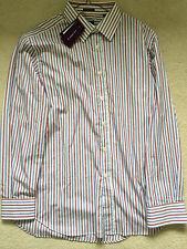 "Paul Smith LONDON LS multi striped Shirt Classic  fit  17 / 43  - p2p 22.5"""