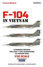Caracal Decals 1/32 LOCKHEED F-104C STARFIGHTER IN VIETNAM